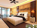 Кровать с подъемным механизмом с мягкой спинкой Zevs-M Барселона 140*190, фото 2