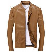 Осень Зимнее пальто Мужчины Кожаная куртка Молния Черный Мотоцикл Пальто Верхняя одежда Parka XL