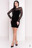 Облегающее платье Виолет из велюра, фото 1