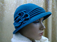 Шляпы RABIONEK из мягкой шерсти с цветком размер 56-57, цвет зеленый