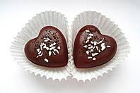 Индивидуальный заказ к 8 марта: Мыло-сердечки посыпанные кокосовой стружкой и тертыми какао бобами 2 шт
