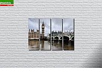 Модульная картина город лондон