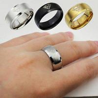 2015 Мода Ювелирные изделия Простые мужские кольца Супермен логотипа пальца кольца 3 цвета 13