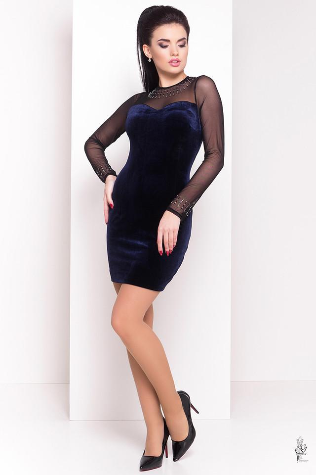 Синий цвет Облегающего платья Виолет