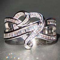 925 Серебряный натуральный драгоценный камень Кольцо Белый сапфир Свадебный камень Невеста Занятие Квадрат Эйфелевой башни Марка Сердце Кольцо Размер