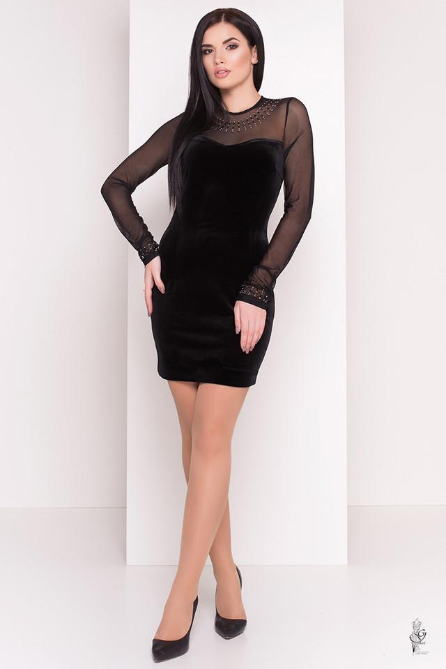 Цвет черный Облегающего платья Виолет