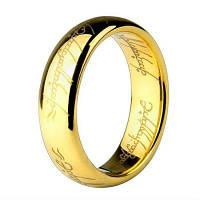 Модные украшения Властелин колец для мужчин Кольцо из нержавеющей стали 18K для нержавеющей стали для мужского титанового кольца 10