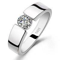 Роскошное модное мужское и женское бриллиантовое обручальное кольцо 925 из стерлингового серебра с титановым кольцом с бриллиантами размер США 11.5