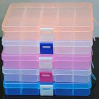 Ленточные ленты для хранения ювелирных изделий Пластиковый организатор Бусины Craft Box Case 15 слотов