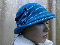 Шляпы RABIONEK из  шерсти с цветком, зеленый цвет