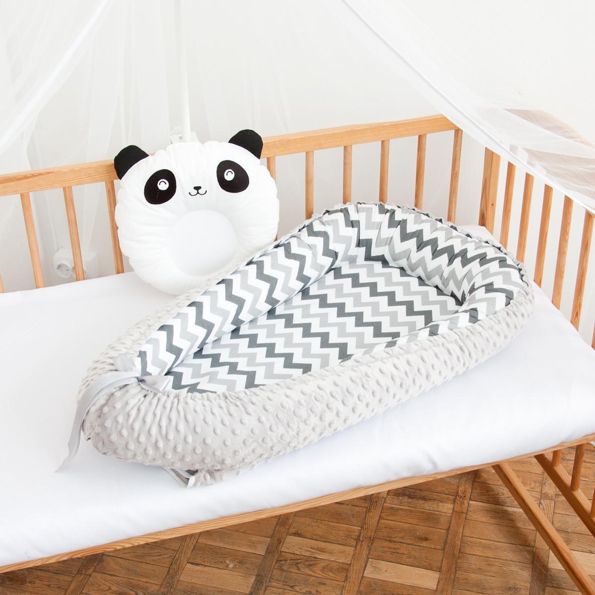 "Гнездышко-кокон для новорожденных ""Black and White"""
