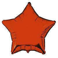 """Фольгированные шары без рисунка  18"""" Звезда оранжевая (FlexMetal)"""