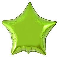 """Фольгированные шары без рисунка  18"""" Звезда светло-зеленая (FlexMetal)"""