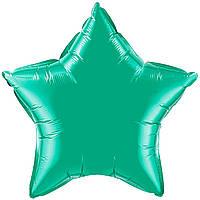 """Фольгированные шары без рисунка  18"""" Звезда изумрудная (FlexMetal)"""