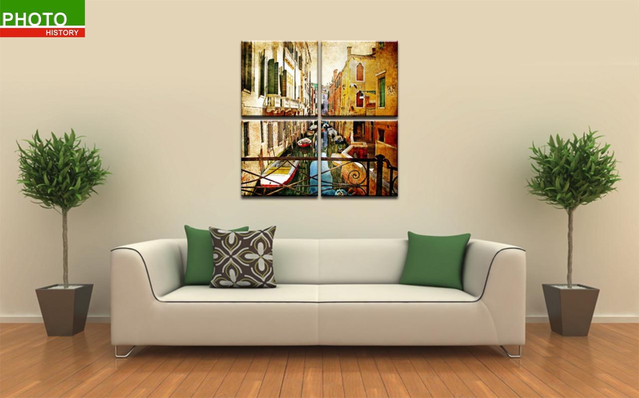 Модульная картина город венеция