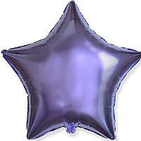 """Фольгированные шары без рисунка  18"""" Звезда лиловая (FlexMetal)"""