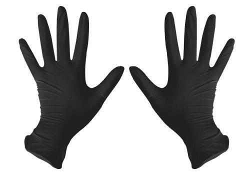 Перчатки нитриловые чёрные (100 шт.)