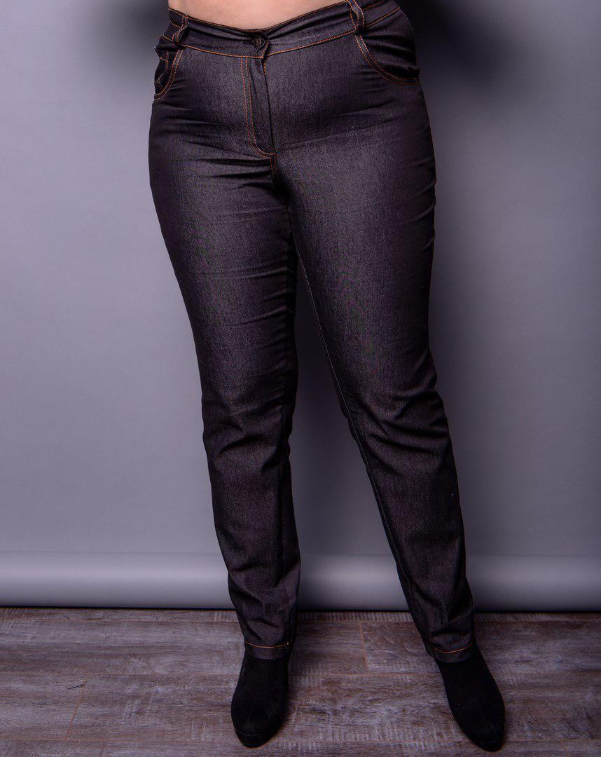 9d8309a0fa3e Женские стрейчевые джинсы большого размера (черный, синий) 16003BR