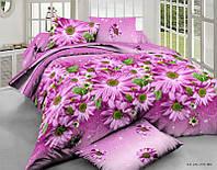 Комплект постельного белья евро розовая хризантема  5д недорого