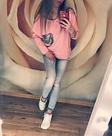 Свитшот женский с пайетками в расцветках 24030