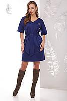 Трикотажное женское платье Шанель-2 рукав три четверти, фото 1