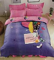 """Качественное постельное белье """"Сатин"""" евро размер"""