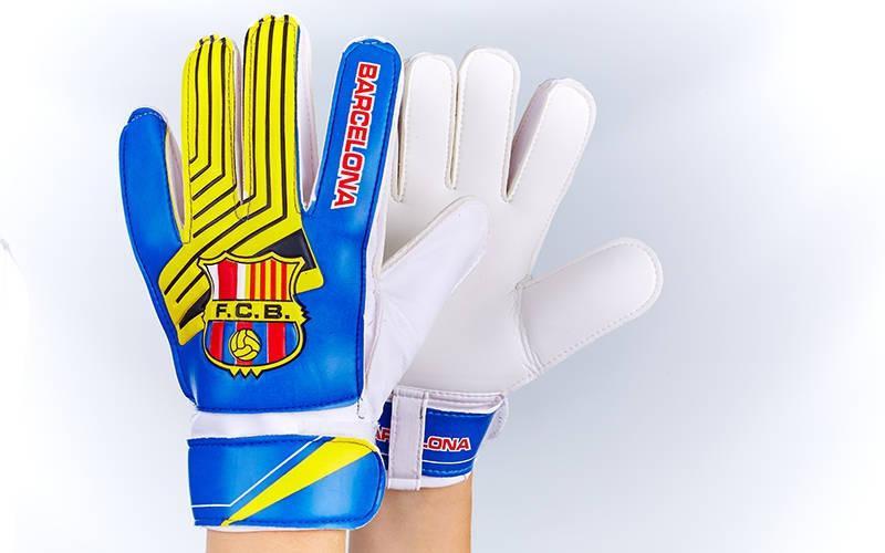 Перчатки вратарские юниорские  FC Barcelona (реплика)