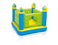 Детский надувной игровой центр-батут замок intex 48257 kk hn