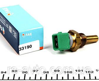 Датчик температуры охлаждающей жидкости Citroen Berlingo, Ситрен Берлинго , Jumper 1.8, 2.5D 94- (2 конт. зеленый) 33190