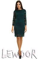 Вечернее платье из кружевного гипюра