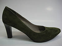 Замшевые женские туфли болотного цвета ТМ Камея, фото 1