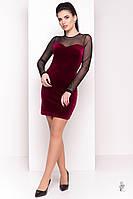 Облегающее платье Виолет-2 из велюра, фото 1