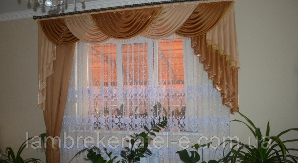 Ламбрекен со шторой в гостиную