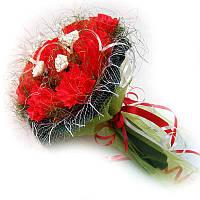 Букет из конфет Бело-красные розы