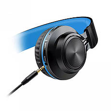 Наушники беспроводные Sound Intone BT-06 Black-Blue, фото 3