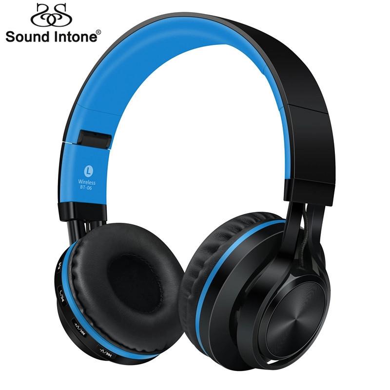 Наушники беспроводные Sound Intone BT-06 Black-Blue