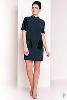 Трикотажное женское платье Одет из трикотажа и велюра