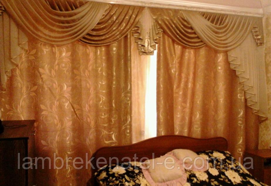 Ламбрекен шторы в спальню