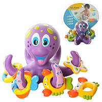 Для ванной Осьминог кольца-фигурки для купания, осьминожка фиолетовый с лапками HS6301, 008676