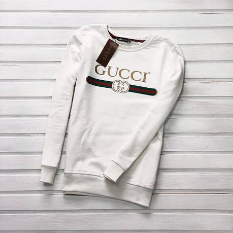 Мужской свитшот кофта Gucci Embroidered Blind White (Реплика AAA+)  ... fc9d08ed682