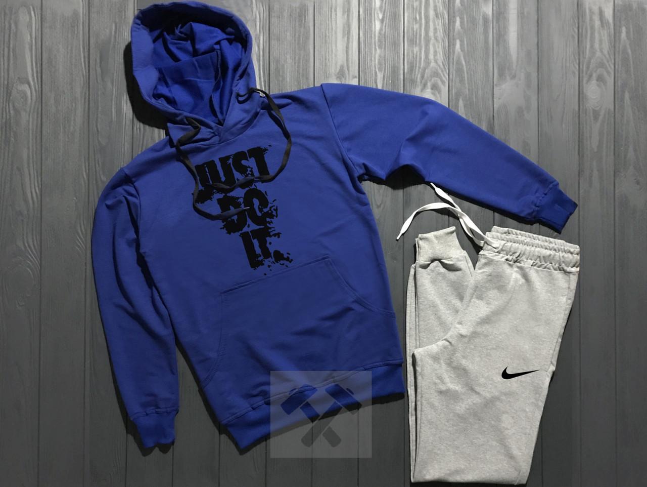 Спортивный костюм Найк мужской с капюшоном, брендовый костюм Nike трикотажный (на флисе и без) копия