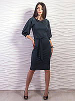Женственное и стильное платье с объёмными рукавами. С,M, L