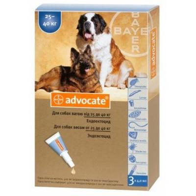 Адвокат для собак 25-40 кг от блох и клещей, цена за 1 пипетку