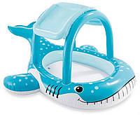 """Детский бассейн 57125 intex """"большой кит""""  с навесом, размером 211х185х109см kk"""