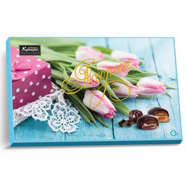 Набор конфет Кутюрье «Ассорти» (тюльпаны) 250g