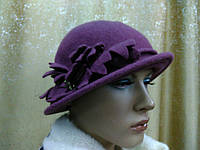 Шляпы RABIONEK из шерсти с цветком, лиловый цвет, фото 1