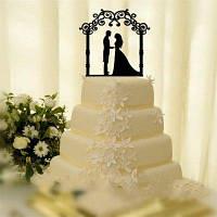 Романтическая невеста и жених торт Topper для свадебного украшения День святого Валентина Чёрный