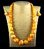 Набор из янтарной смолы шар на увеличение, желтый с разводами