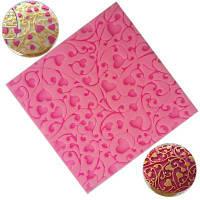 Цветочный сердце Кружевной подарок Шоколад Силиконовый пресс-печенье Инструмент Bakeware Jelly Sugar Fondant Силиконовая конфета Подарочная упаковка