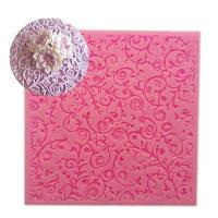 Красивый цветочный дизайн Instant Fondant Силиконовый кружевной пресс-подарок для хлебобулочных изделий Шоколадный пресс-форму для выпечки Розовый